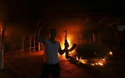 Libya Fire and death in Benghazi