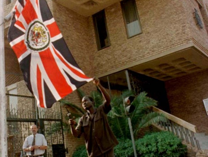 The British embassy in Khartoum has been stormed in Innocence of Muslims film protests