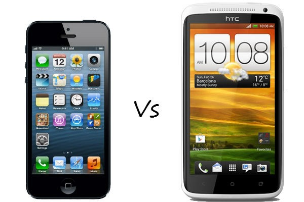 Apple iPhone 5 versus HTC One X
