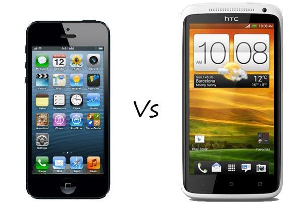 Apple iPhone 5 versus HTC One X