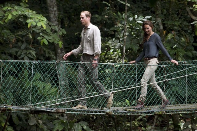 William and Kate Visit Malaysian Rainforest