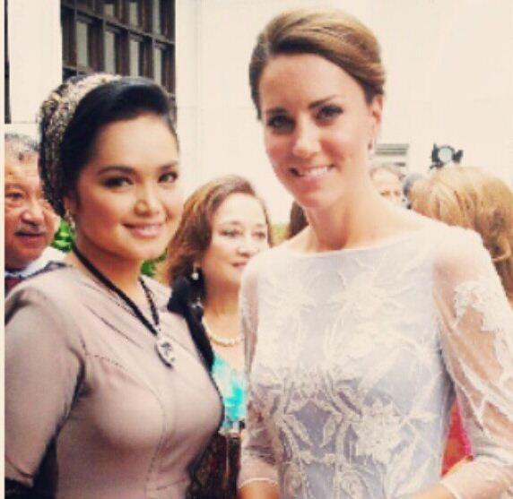 Kate Middleton and Siti Nurhaliza