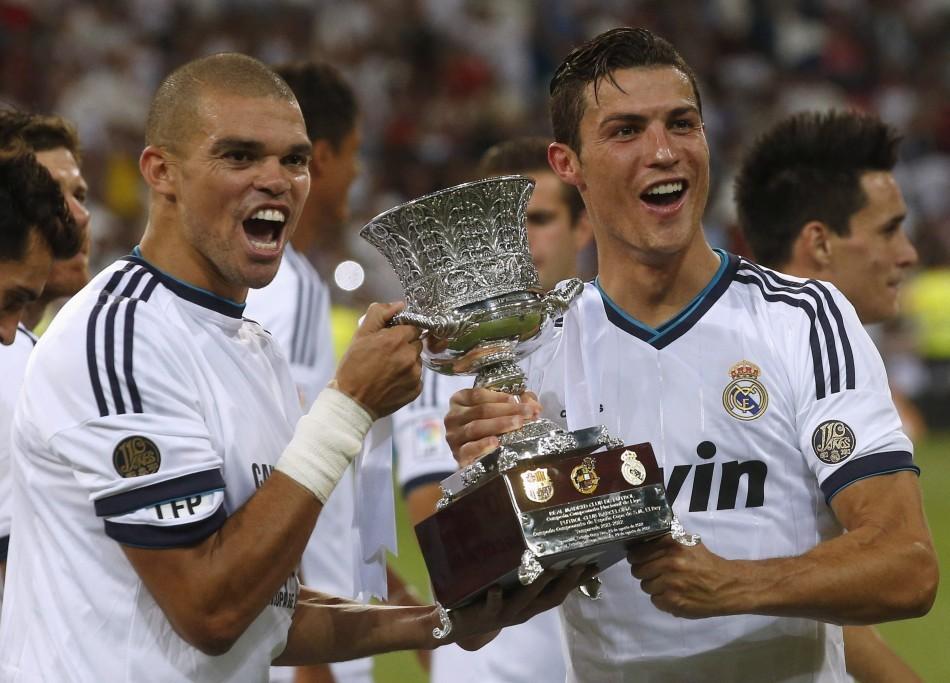 Real Madrid Celebrate Super Copa Win