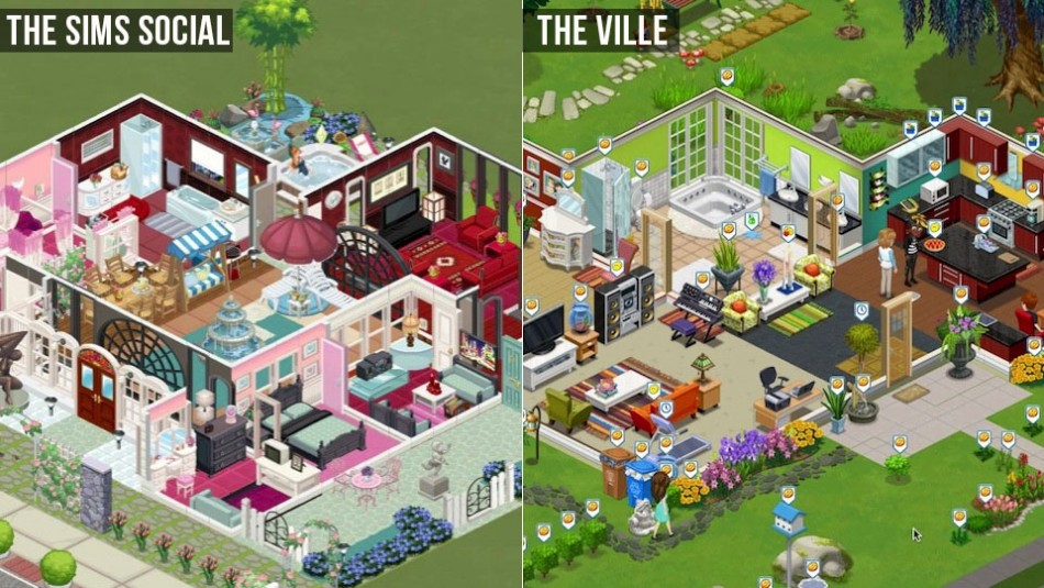 The Ville and Sims Social