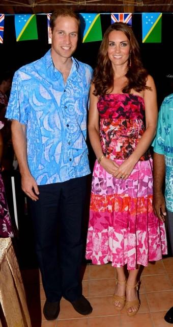 Kate Middleton in Tav Pacific Strapless Dress