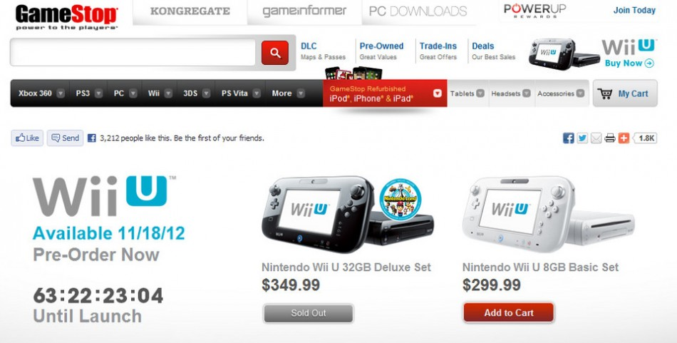 Wii U sold out