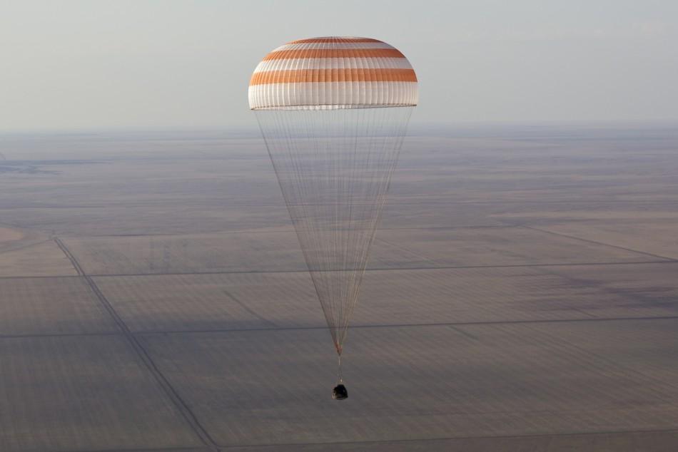 Parachuted