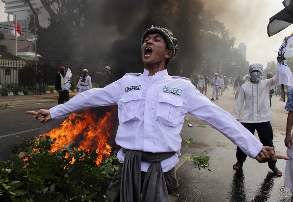 Indonesian Muslim protester
