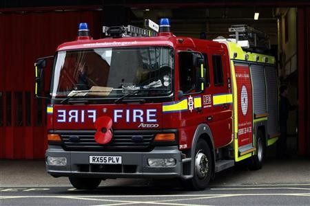 "South Wales Fire and Rescue Service said the house was ""well alight"" when crews arrived (Reuters)"
