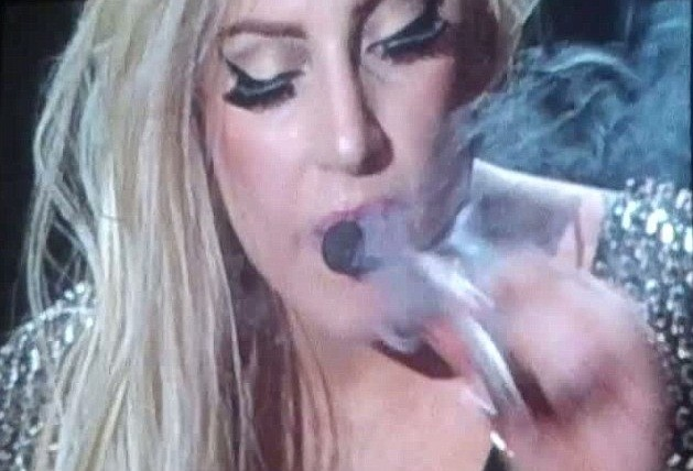 Lady Gaga Smoking Marijuana on stage