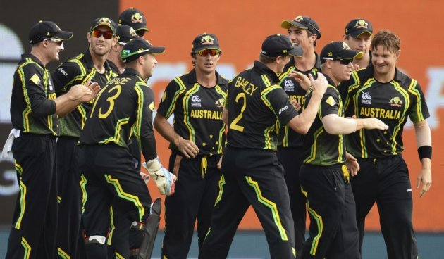 Australia Celebrate Fall of Wicket