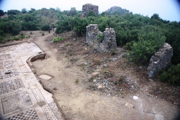 The mosaic is near a third-century imperial temple in the city of Antoichia ad Cragum, near the Mediterranean on the southern Turkish coast. (Photo: University of Nebraska-Lincoln)
