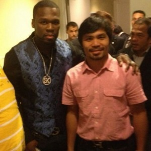 Manny Pacquiao and 50 cent