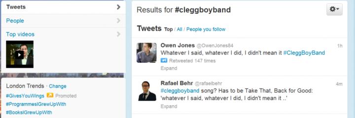 Clegg butt of Twitter jokes