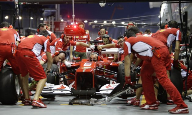 Ferrari at the Singapore Grand Prix