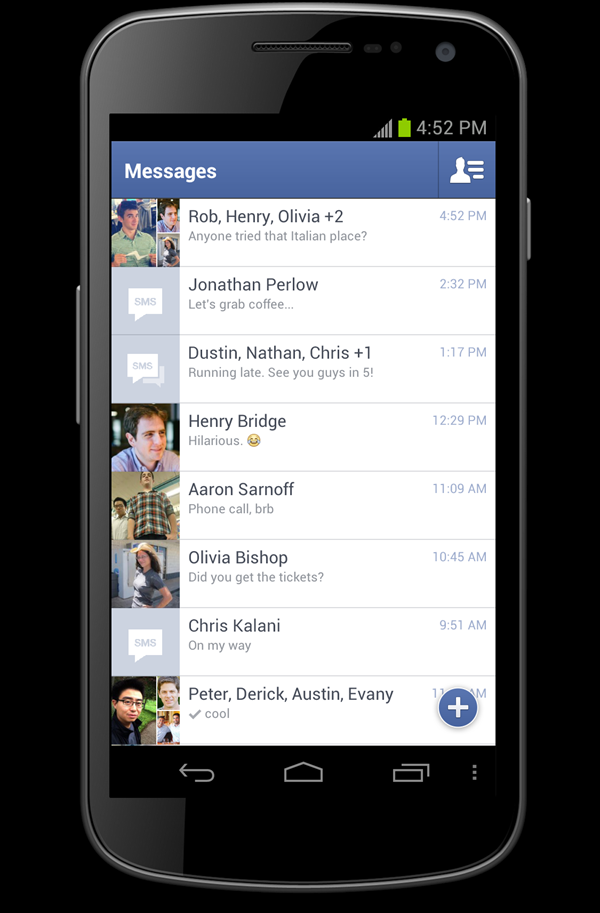Facebook Updates Android App and Messenger