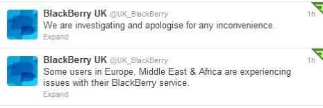 BlackBerry tweets