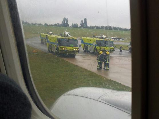 Crews at scene