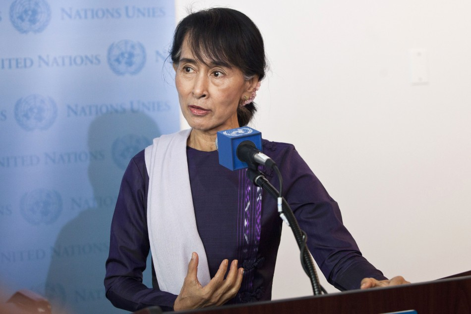 Suu Kyi, chairperson of Myanmar's National League for Democracy,