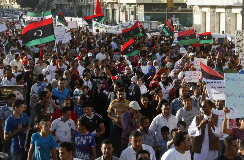 Libyan protesters storm benghazi and evict militia photos sciox Choice Image