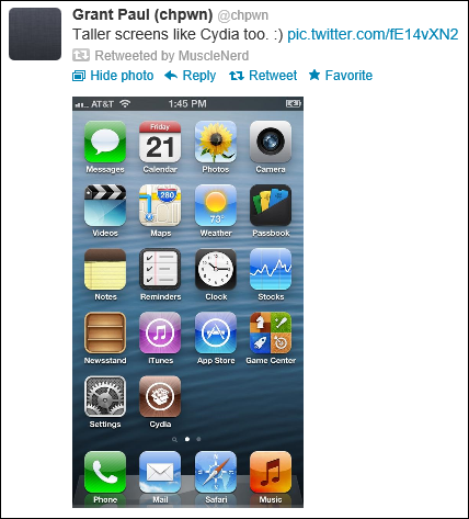 iPhone 5 Jailbreak Achieved on Release Day, Chpwn Posts Photos on Twitter