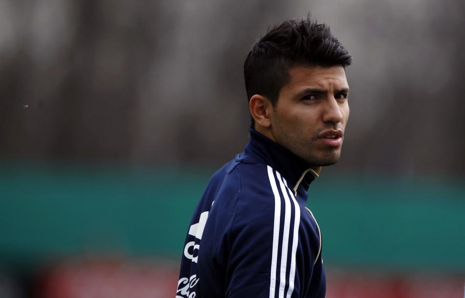 City striker Sergio Aguero
