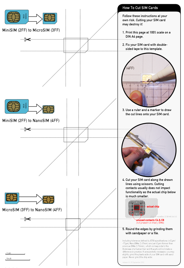 How to Convert a Micro SIM to iPhone 5 Nano SIM