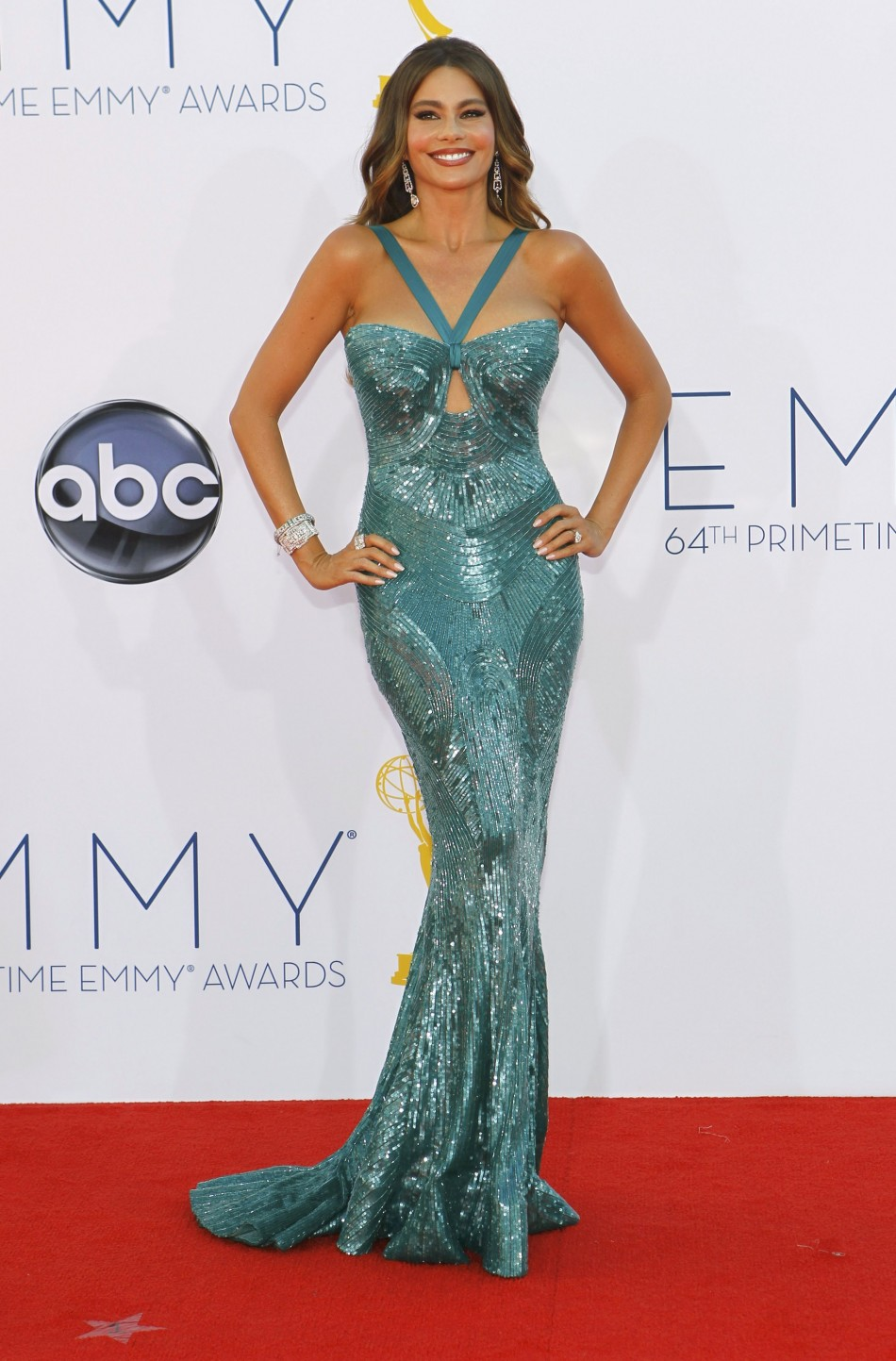 Actress Sofia Vergara arrives at the 64th Primetime Emmy Awards in Los Angeles