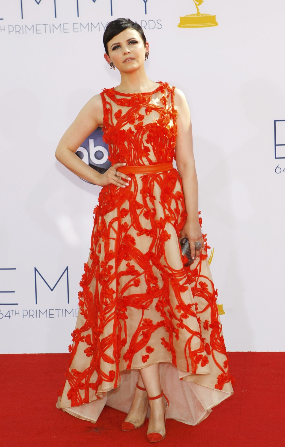 Actress Ginnifer Goodwin, of the drama series Once Upon A Time, arrives at the 64th Primetime Emmy Awards in Los Angeles