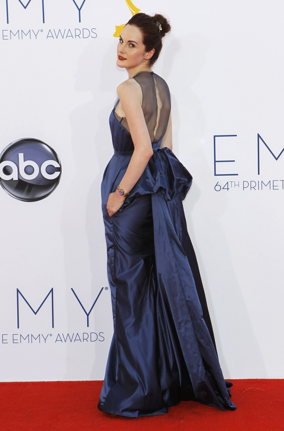 Actress Michelle Dockery arrives at the 64th Primetime Emmy Awards in Los Angeles