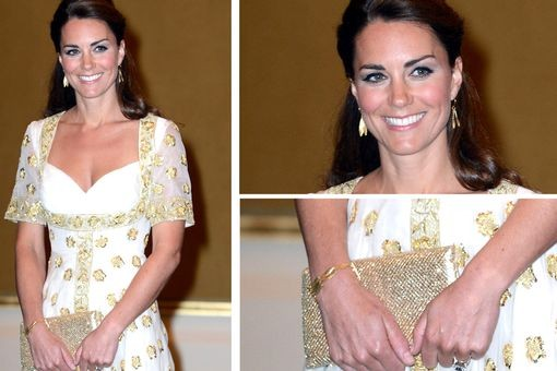 Kate Middleton in Catherine Zoraida Double Leaf Earrings