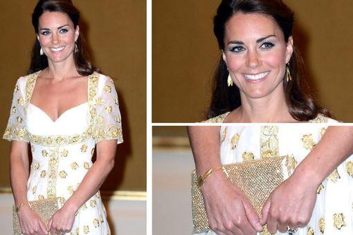 Kate Middleton in Catherine Zoraida Double Leaf Earrings