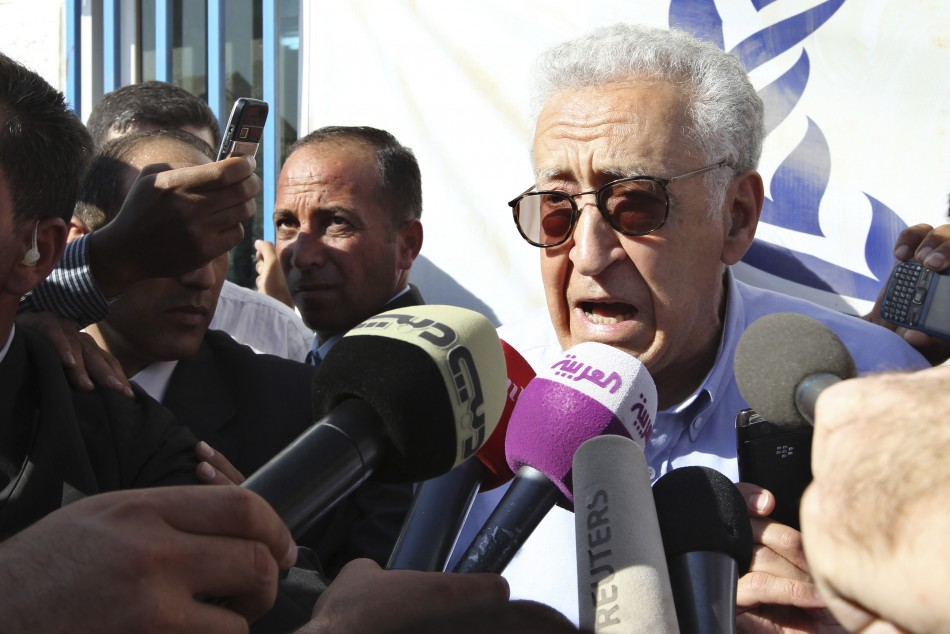 UN-Arab League peace envoy for Syria Brahimi