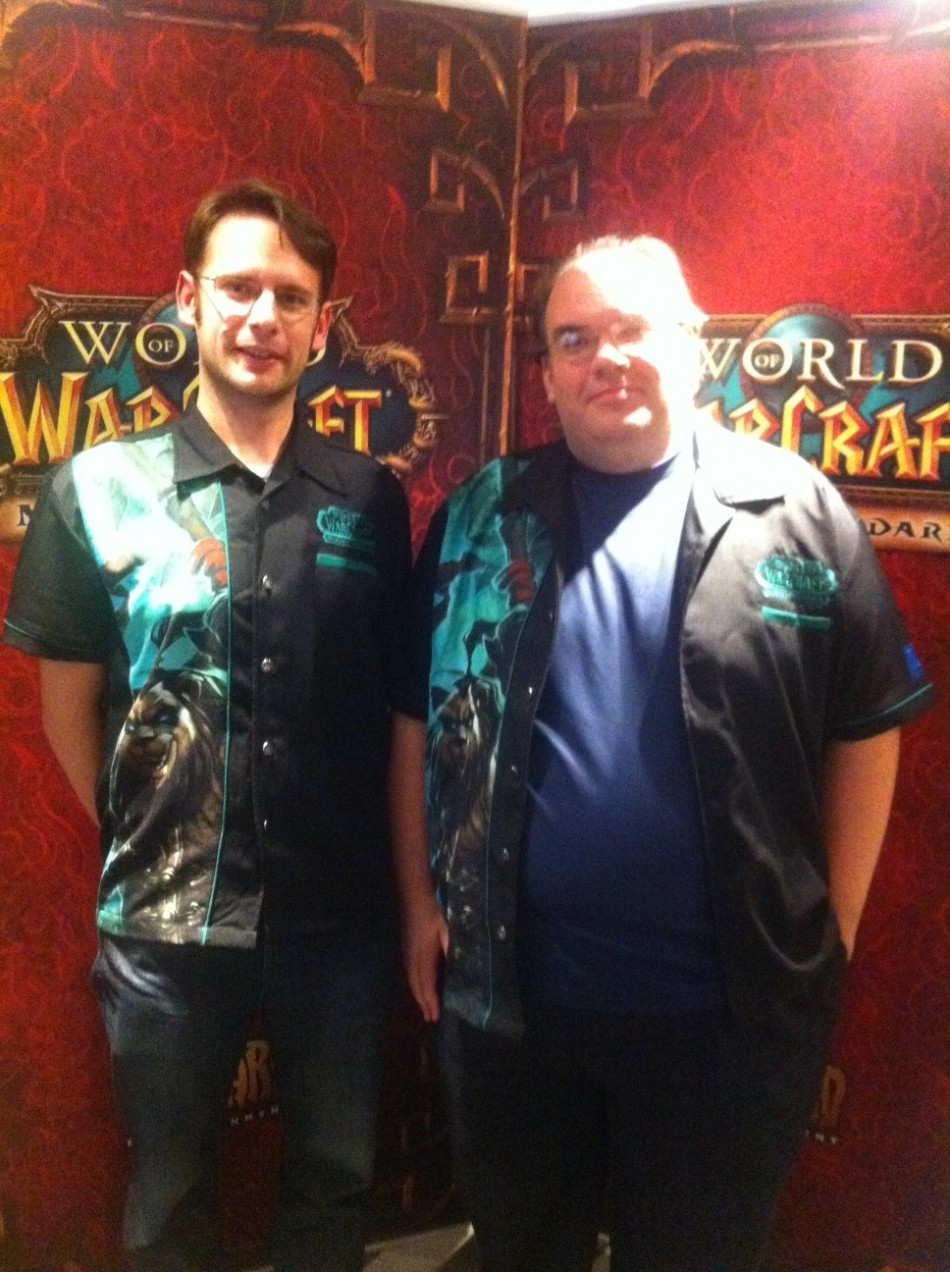 Blizzard's Darren Williams and Scott Mercer speak with IBTimes UK on World of Warcraft: Mists of Pandaria (Photo: Lianna Brinded)