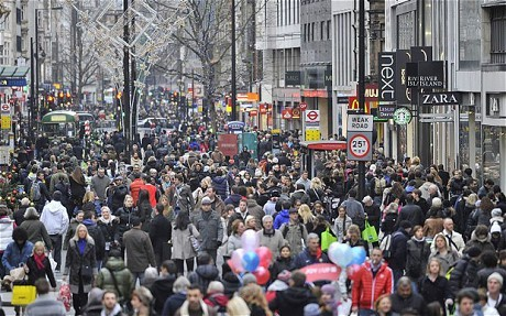 Christmas high street retail sales