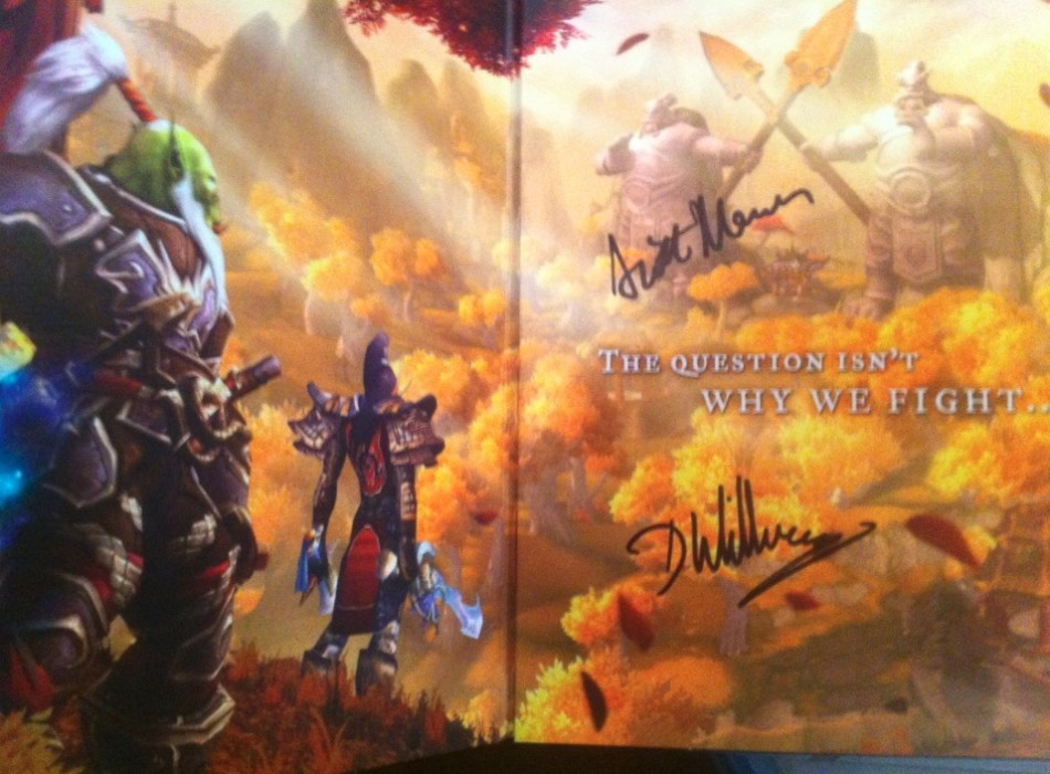 Blizzard Developers Signed Copies of Mists of Pandaria