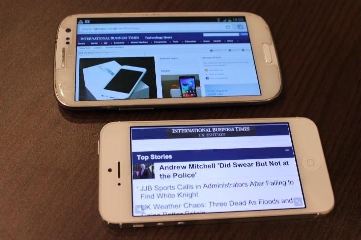 iPhone 5 vs Galaxy S3