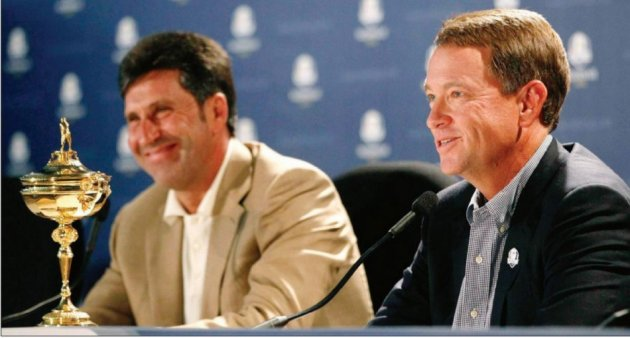 Jose Maria Olazabel and Davis Love III