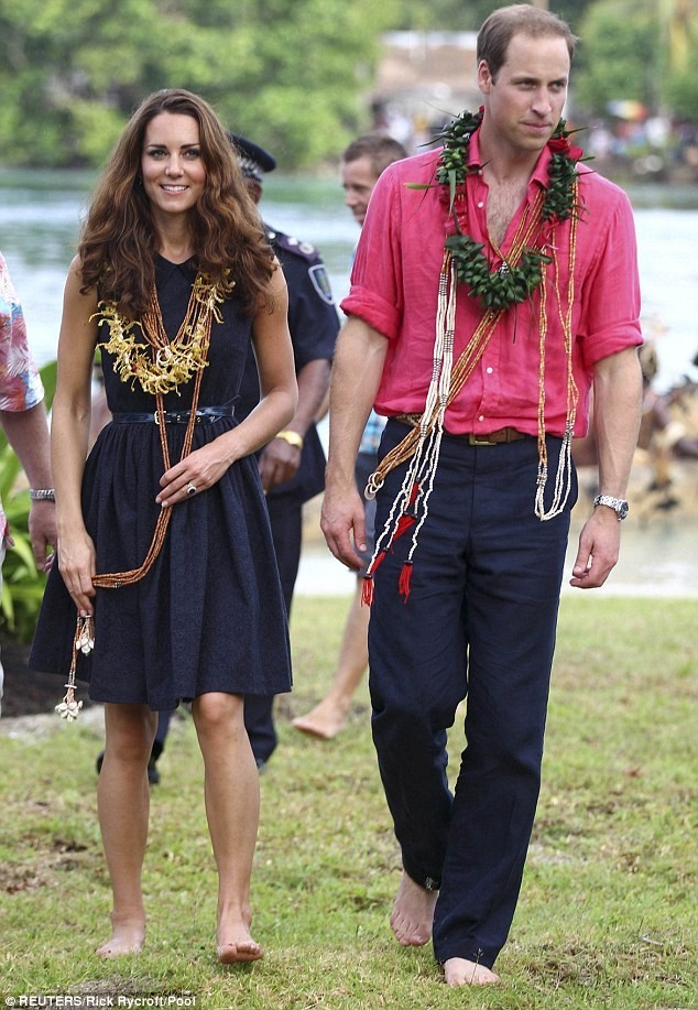 Kate Middleton in the Solomon Islands