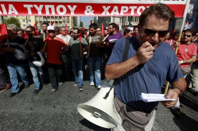 union strike in athens