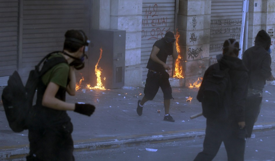 Athens burns during austerity protests