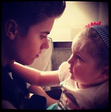 Justin Bieber with Avalanna Routh