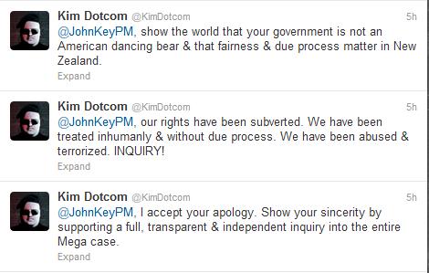 Kim Dotcom tweets