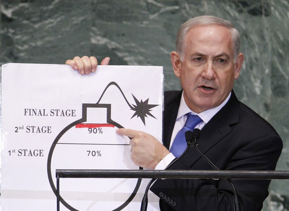 Benjamin Netanyahu bomb cartoon