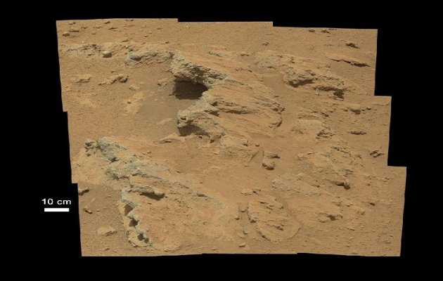 Old streambed on Mars