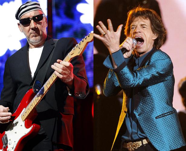Pete Townsend Mick Jagger
