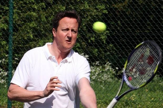 Top spin: PM Cameron on court