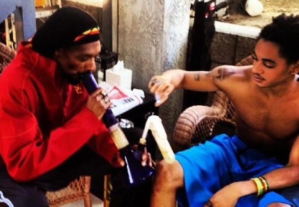 Snoop Dogg and son Corde Calvin Broadus