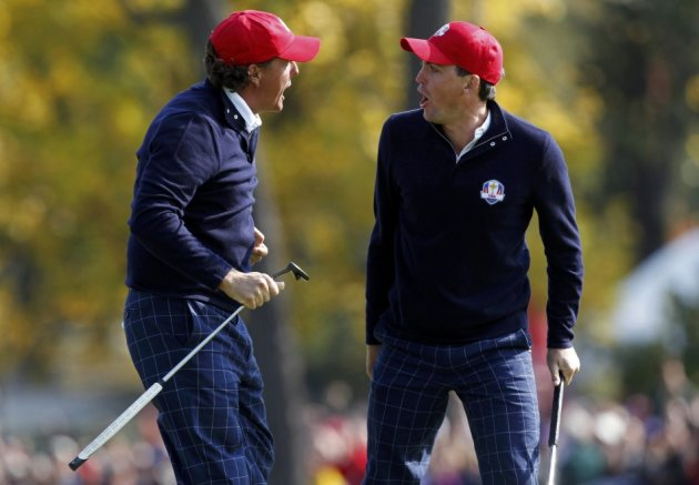 Keegan Bradley and Phil Mickelson