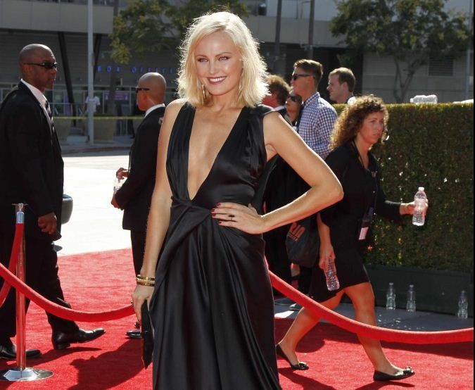 Actress Malin Akerman arrives at the 2012 Primetime Creative Arts Emmy Awards in Los Angeles